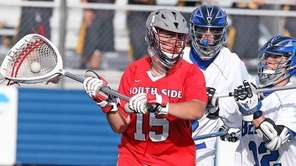 South Side goalie Dennis Licalzi gets control of