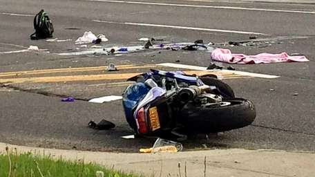 A motorcyclist died Friday night, May 15, 2015,