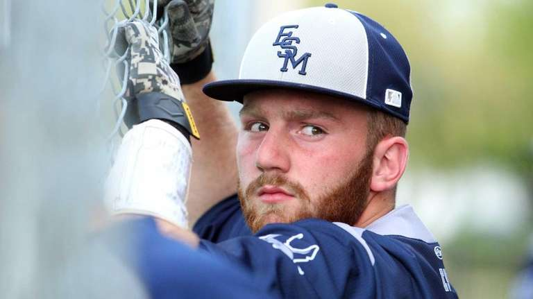 Eastport-South Manor designated hitter Ryan Lennon is in