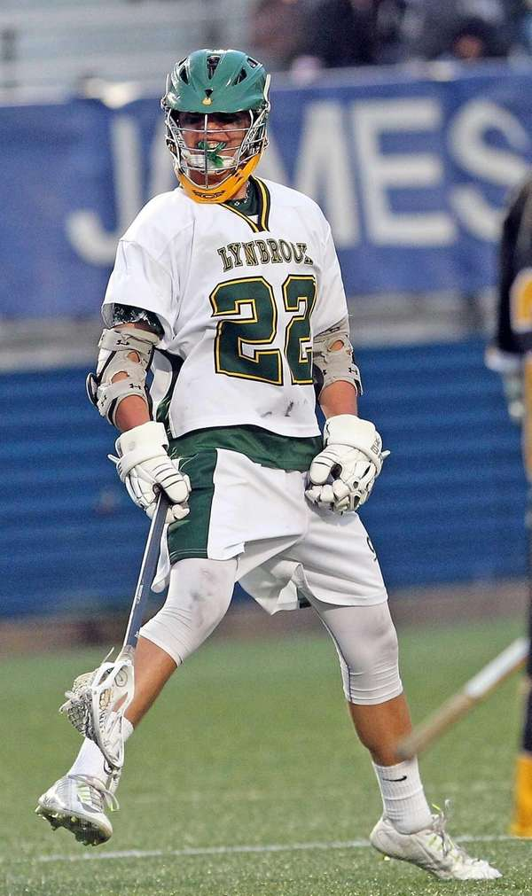 Lynbrook's Zach LoCicero enjoys his goal during a