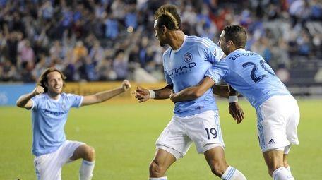 New York City FC forward Khiry Shelton is