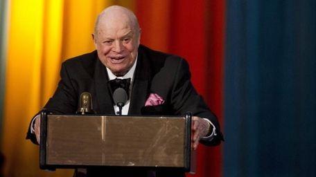 Don Rickles accepts the Johnny Carson Award at
