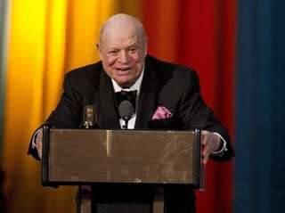 Don Rickles accepts the Johnny Carson Award at