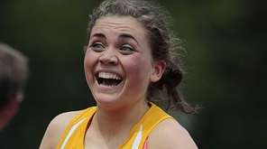Sacred Heart's Emily McLean reacts after coming from