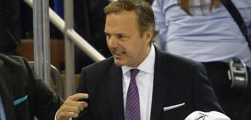 Head coach Jon Cooper of the Tampa Bay