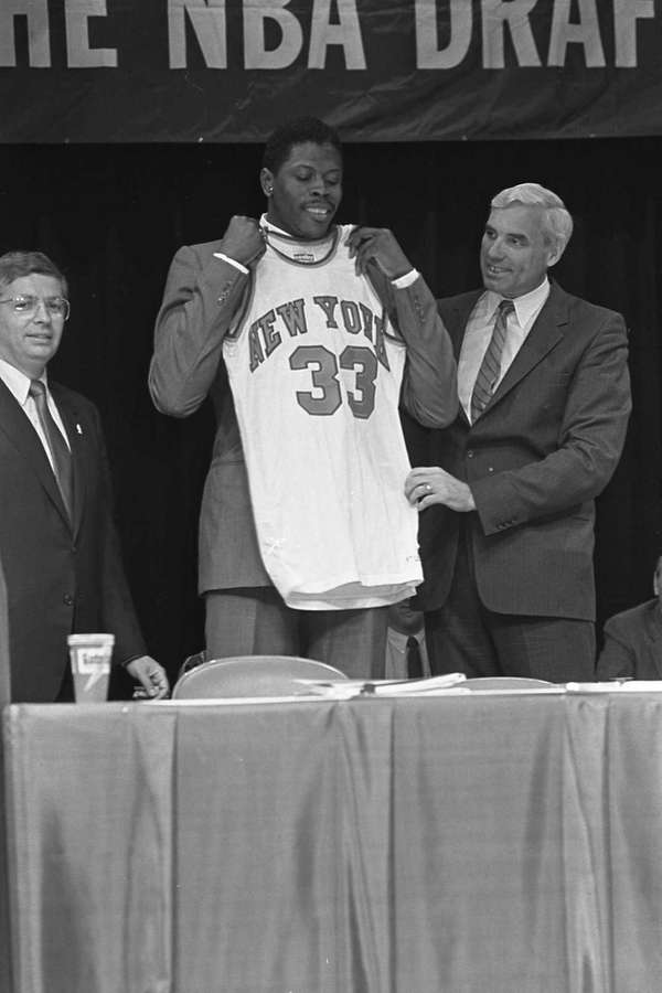 Patrick Ewing the number one pick of the