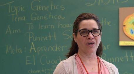Carmen Bernier, an ESL science teacher at Freeport