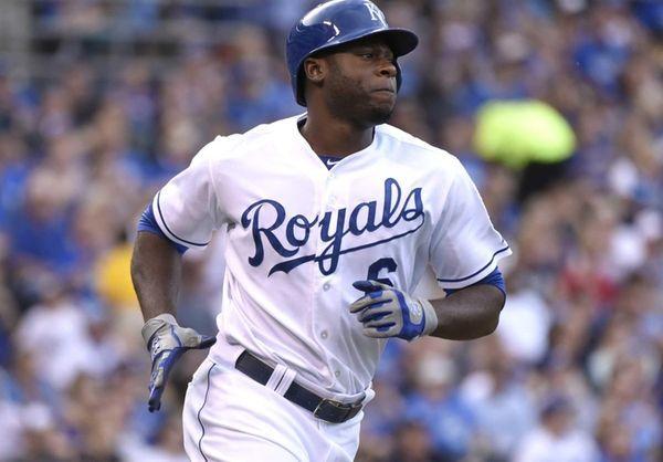 Lorenzo Cain of the Kansas City Royals runs