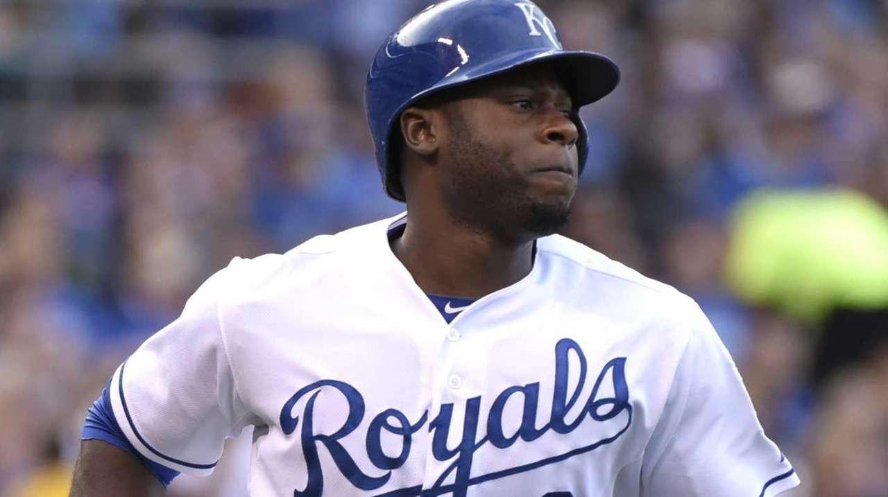 Lorenzo Cain of the Kansas City Royals runs