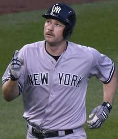 Chase Headley of the New York Yankees celebrates