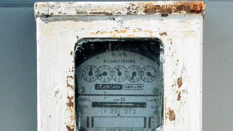 A meter at John Puccio and his wife's