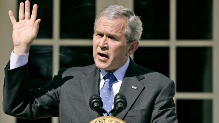 President George W. Bush speaks about the congressional