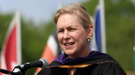U.S. Sen. Kirsten Gillibrand gives the commencement address