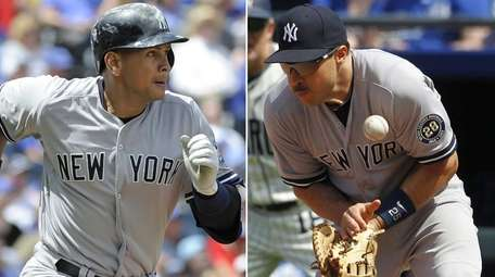 The Yankees could be without Alex Rodriguez, left,