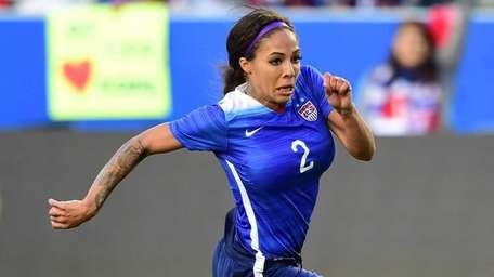 USA's Sydney Leroux, who scored the opening goal,