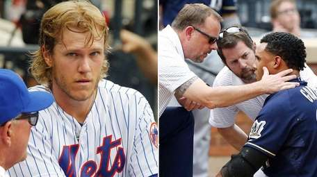Mets pitcher Noah Syndergaard and Brewers outfielder Carlos