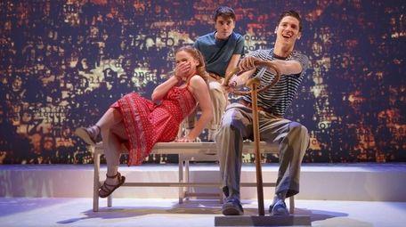 From left, Juliet Brett as Bonny, Noah Galvin