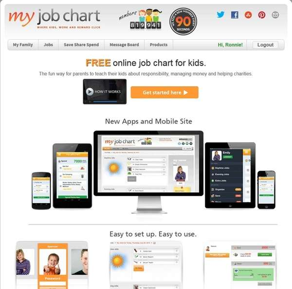 My Job Chart is a free app designed