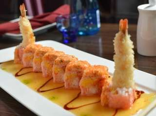 "The ""angry dragon"" roll includes tempura shrimp, spicy"
