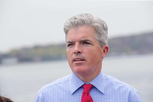 Suffolk County Executive Steve Bellone in Greenport, on