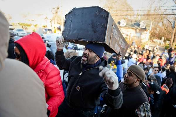 About 400 people on Long Island demonstrated against