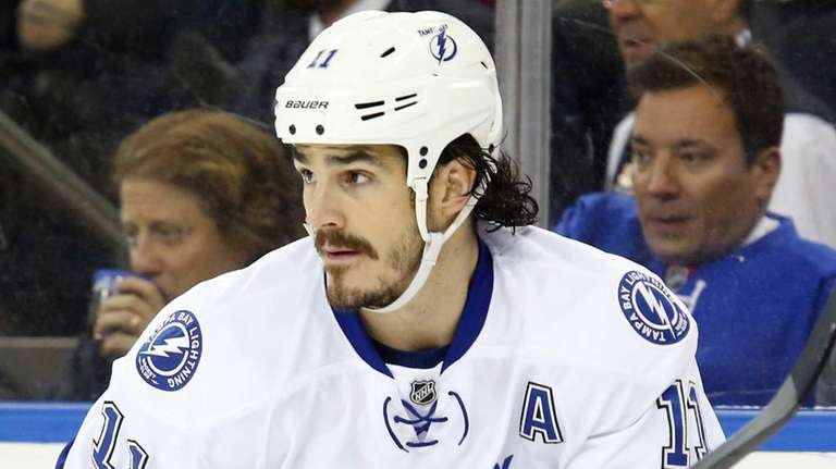Brian Boyle #11 of the Tampa Bay Lightning