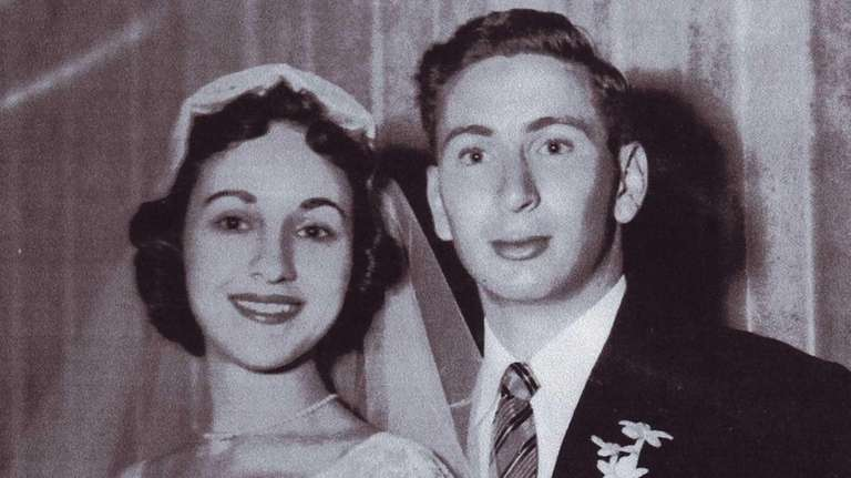 Marcia and Bob Sparrow on their wedding day,