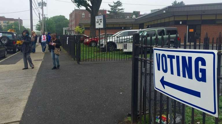 People turn out to vote on Tuesday, May