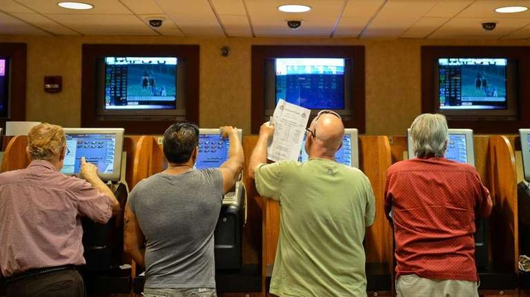 People swarm Nassau OTB's Race Palace in Plainview