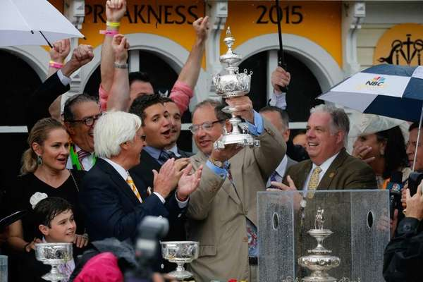 Owner Ahmed Zayat, right, and trainer Bob Baffert