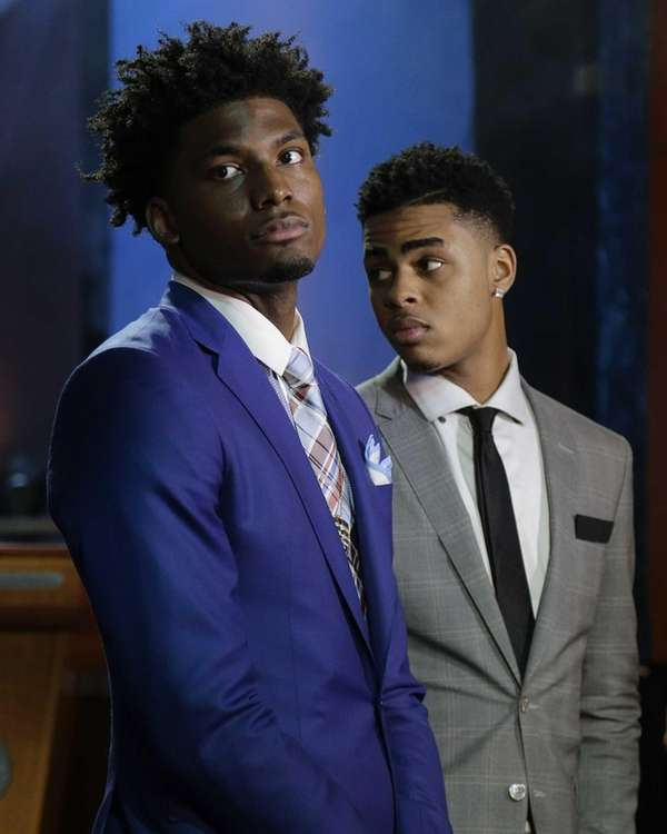 NBA Draft prospects Justice Winslow, left, of Duke,