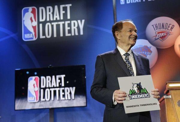 Minnesota Timberwolves owner Glen Miller poses for photos