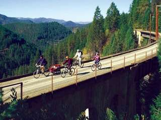 A family passes through a scenic route of