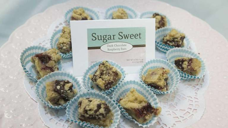 Sugar Sweet bar samples are displayed at the