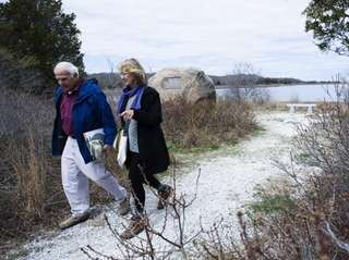 Southampton Trails Preservation Society hike leaders Tony Garro,
