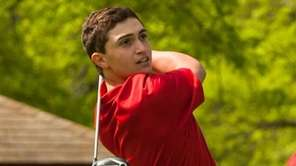 Chaminade's Nick DiMaio tees off during the CHSAA