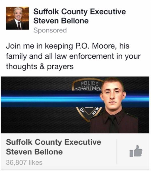 Republicans criticized a County Executive Steve Bellone ad