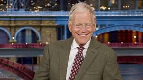 "David Letterman, host of the ""Late Show with"