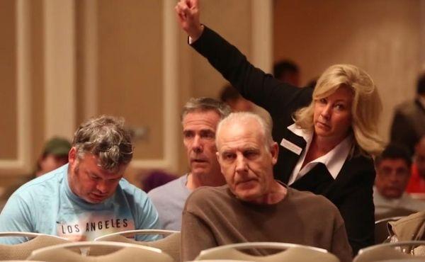 Hundreds of hopeful bidders crowded the Hyatt Regency