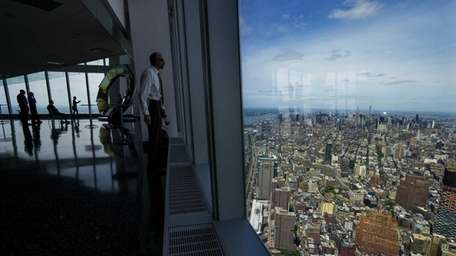 People and views from level 100 of the