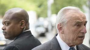 New York City Police Commissioner William Bratton, right,