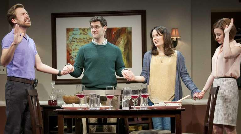 From left, Lucas Near-Verbrugghe, Justin Bartha, Elizabeth Reaser