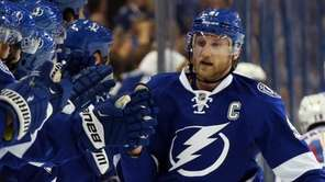 Steven Stamkos #91 of the Tampa Bay Lightning