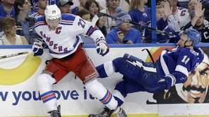 New York Rangers defenseman Ryan McDonagh (27) and
