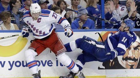 New York Rangers defenseman Ryan McDonagh (27) and