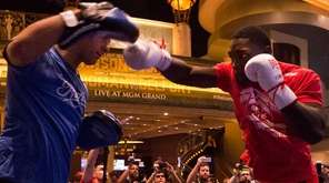 Anthony Johnson at the open workouts for UFC