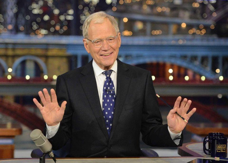 David Letterman hosts his final