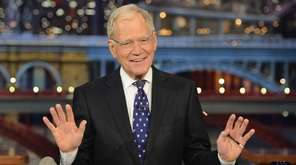 "David Letterman hosts his final ""Late Show"" at"