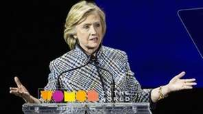 Hillary Clinton on April 23, 2015 at the