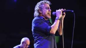 Singer Roger Daltrey performs with The Who as